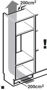 De ce are nevoie frigiderul încorporabil de existența unor fante de ventilație ?
